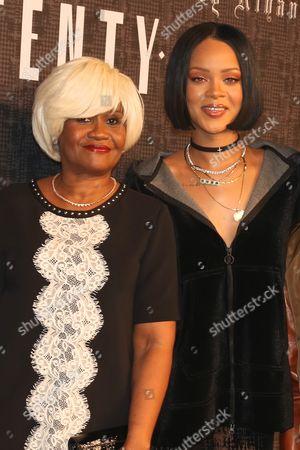 Monica Fenty, (mother of Rihanna) and Rihanna