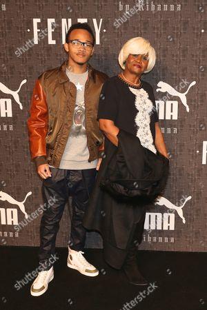 Rajad Fenty (brother of Rihanna) and Monica Fenty, (mother of Rihanna)