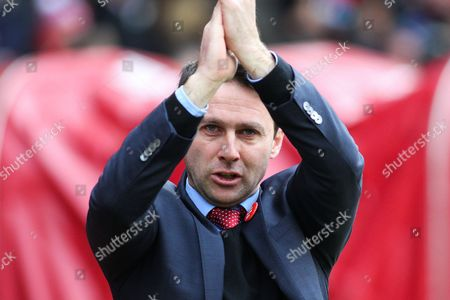 Nottingham Forest manager Dougie Freedman during the Sky Bet Championship match between Nottingham Forest and Huddersfield Town at the City Ground, Nottingham