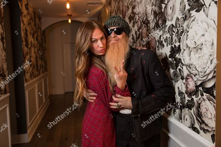 AJ Celi and Billy Gibbons attend Nine Zero One and T3 host a day of beauty with Florido Basallo for the 2016 Grammy's