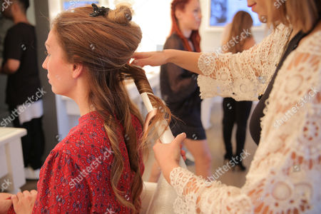 AJ Celi attends Nine Zero One and T3 host a day of beauty with Florido Basallo for the 2016 Grammy's