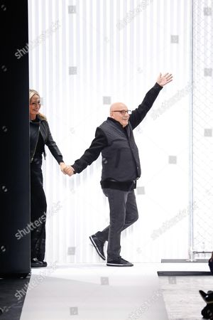 Stock Picture of Lubov Azria and Max Azria on the catwalk