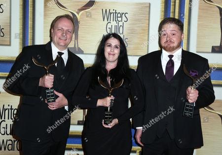 John Stafford, Rhianna Pratchett and Cameron Suey