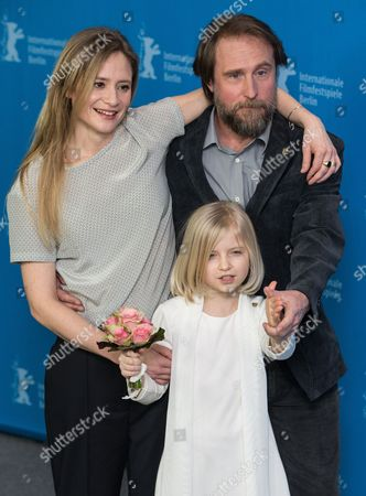 Stock Picture of Julia Jentsch, Emilia Pieske and Bjarne Madel