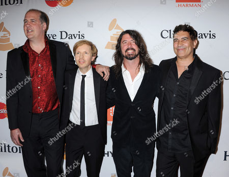 Dave Grohl, Beck, Krist Novoselic and Pat Smear