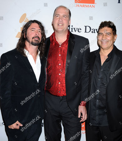 Dave Grohl, Krist Novoselic and Pat Smear of Nirvana