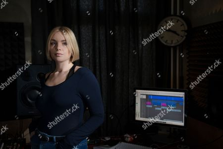 Stock Picture of Berlin Germany - April 20: Portrait Of English Electronica Musician Ema Jolly Better Known By Her Stage Name Emika Photographed At Her Studio In Berlin On April 20