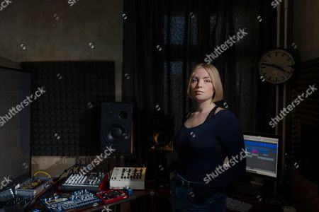 Berlin Germany - April 20: Portrait Of English Electronica Musician Ema Jolly Better Known By Her Stage Name Emika Photographed At Her Studio In Berlin On April 20