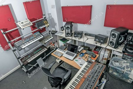 Stock Picture of London United Kingdom - April 14: Detail Of The London Studio Of Italian Dance Music Producer And Dj Stefano Miele Better Known By His Stage Name Riva Starr