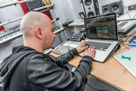 London United Kingdom - April 14: Portrait Of Italian Dance Music Producer And Dj Stefano Miele Better Known By His Stage Name Riva Starr Photographed At His Studio In London On April 14