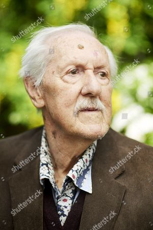 Portrait of English Science Fiction author Brian Aldiss photographed at his home in Oxford
