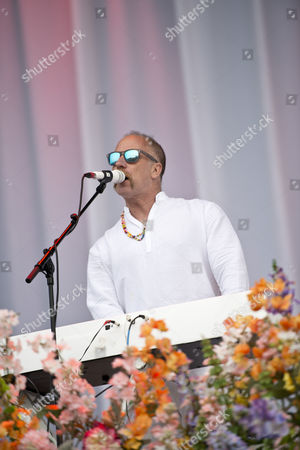 Castle Donington United Kingdom - June 12: Keyboardist Roddy Bottum Of American Hard Rock Group Faith No More Performing Live On The Main Stage At Download Festival On June 13