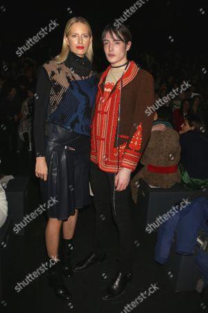 Karolina Kurkova and Harry Brant in the front row