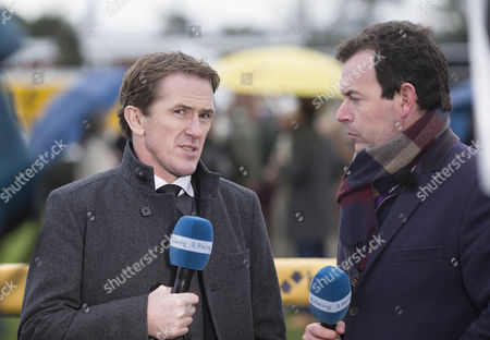Former Champion jockey AP McCoy, now a Channel 4 racing presenter, chats with fellow presenter Nick Luck.