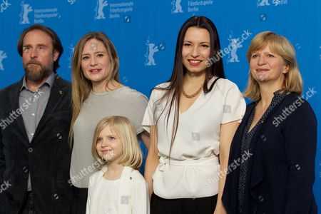 Stock Picture of Bjarne Maedel, Julia Jentsch, Emilia Pieske, Anne Zohra Berrached, Johanna Gastdorf
