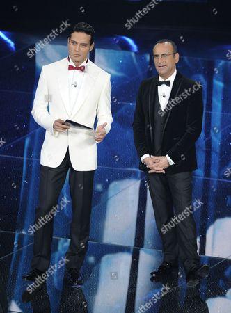 Gabriel Garko and Carlo Conti