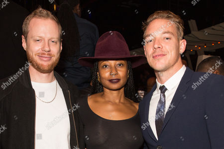 Stock Photo of Thomas Wesley Pentz, Fatima Robinson with guest