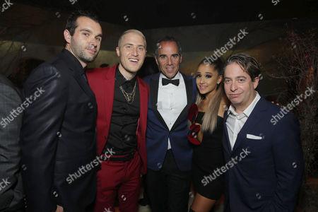 Mike Posner, Monte Lipman, Ariana Grande, Charlie Walk