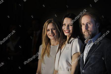Julia Jentsch, Anne Zohra Berrached and Bjarne Mädel