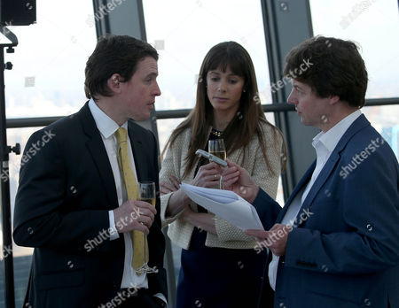 Grand National winning jockey Jason Maguire with wife Lauren at the Crabbie's Grand Natonal Weights Lunch- Sky Garden , London Photograph for Aintree Racecourse by Grossick Racing