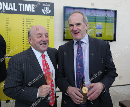 Stock Picture of Trainer Tony Martin and Richard Pitman at the Crabbie's Grand Natonal Weights Lunch- Sky Garden , London Photograph for Aintree Racecourse by Grossick Racing