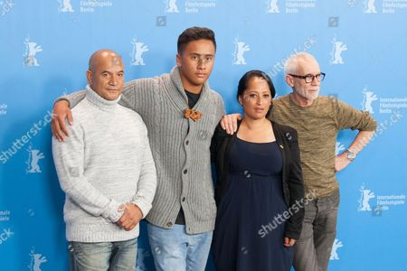 Temuera Morrison, Akuhata Keefe, Nancy Brunning and director Lee Tamahori