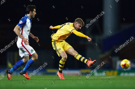 Stock Image of Alex Kacaniklic of Fulham during the Sky Bet Championship match between Blackburn Rovers and Fulham played at Ewood Park, Blackburn on February 16th 2016