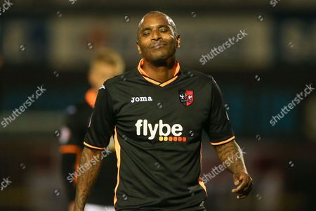 Exeter City forward Clinton Morrison  during the Sky Bet League 2 match between York City and Exeter City at Bootham Crescent, York