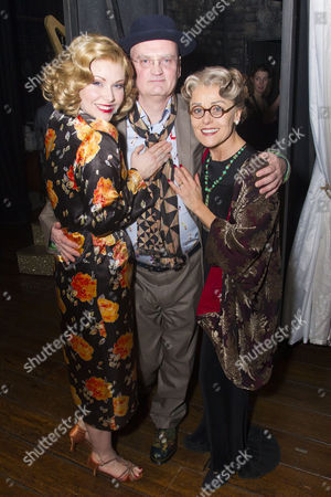 Emma Williams (Maureen), Terry Johnson (Adaptation/Director) and Tracie Bennett (Laura Henderson) backstage