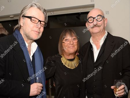 David Downton, Hilary Alexander and Tony Glenville