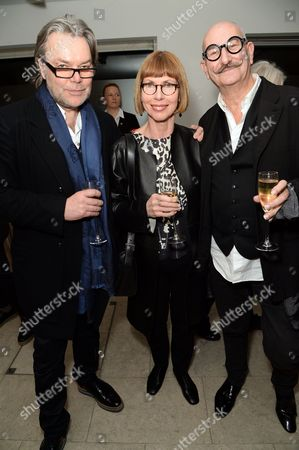 David Downton, Mary Flack and Tony Glenville