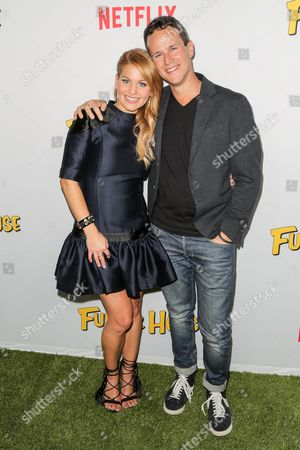 Candace Cameron Bure (L) and Scott Weinger