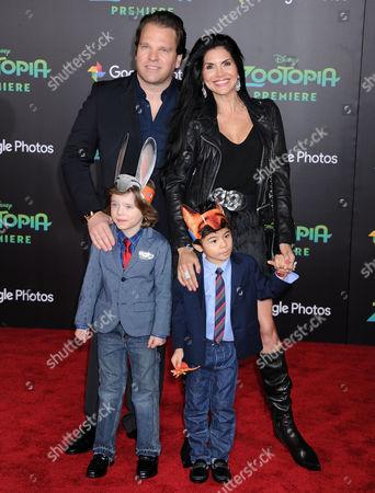 Joyce Giraud, husband Michael Ohoven and kids