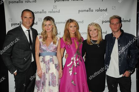 Stock Picture of Nigel Barker, Nicky Hilton Rothschild, Paris Hilton, Pamella DeVos, Ben Hazlewood