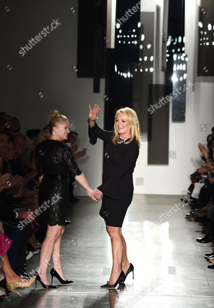 Pamella DeVos and daughter Sydney Devos on the catwalk