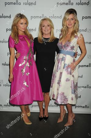 Stock Image of Paris Hilton, Pamella DeVos, Nicky Hilton Rothschild