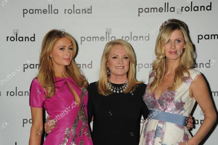 Stock Photo of Paris Hilton, Pamella DeVos, Nicky Hilton Rothschild