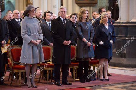 Queen Mathilde, King Philippe, Princess Esmeralda, Princess Lea