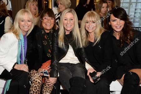 Susan George, Hilary Alexander, Angie Best, Jo Wood and Lizzie Cundy