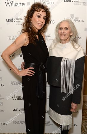 Marie Helvin and Daphne Selfe
