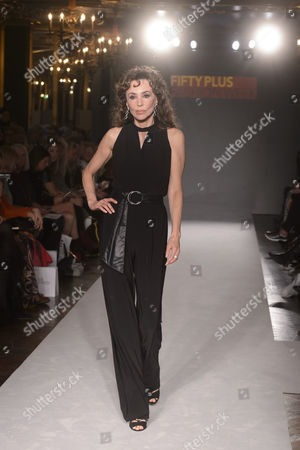Marie Helvin on the catwalk