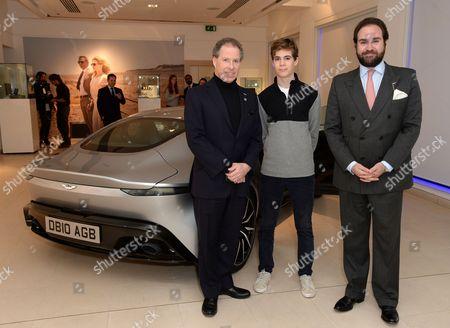 Viscount David Linley, Charles Armstrong-Jones and Mark Gauntlet