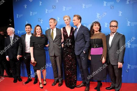 Olivia Colman, John Le Carre, Tom Hiddleston and Susanne Bier