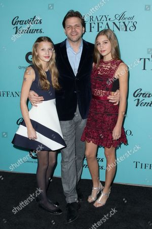Matthew Miele with his daughters