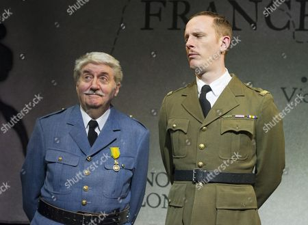Stock Image of Tom Conti as Philippe Petain, Laurence Fox as Charles de Gaulle