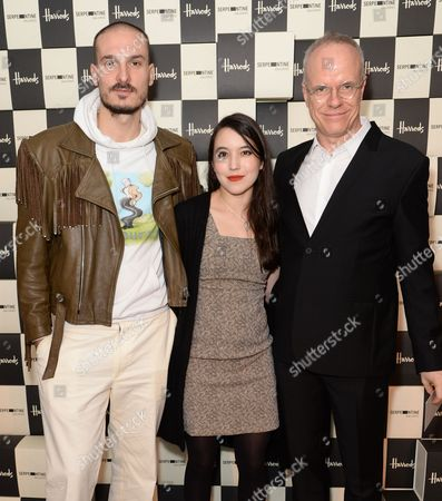Stock Photo of Dominick Dvorak, Alexandra Kleeman, Hans-Ulrich Obrist