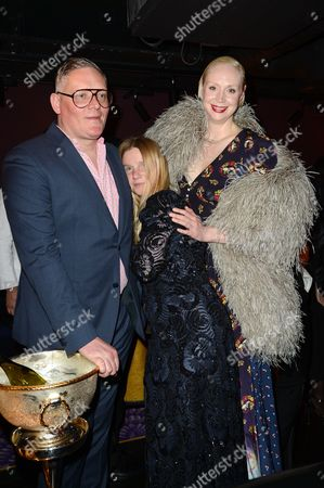 Stock Image of Giles Deacon, Katie Hillier and Gwendoline Christie