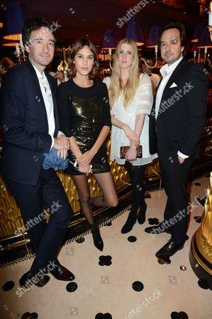 Stock Image of Antoine Arnault, Alexa Chung, Gillian Orr with guest