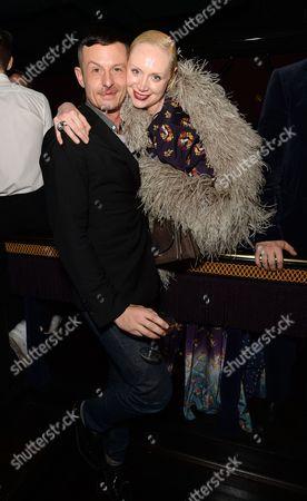 Jonathan Saunders and Gwendoline Christie