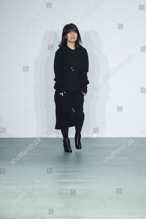 Stock Image of Jackie JS Lee on the catwalk